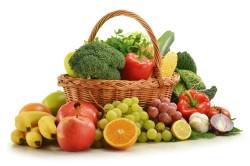 Свежие фрукты и овощи во время диеты