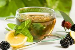 Чай с сахаром и лимоном на диете №0
