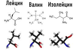 Химические формулы аминокислот ВСАА