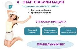 Второй этап диеты - стабилизация