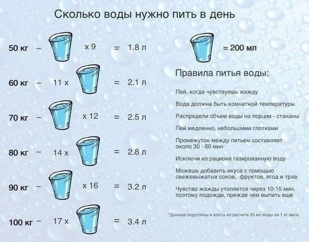 диета при которой перед приемом пищи нужно выпивать 2 стакана воды