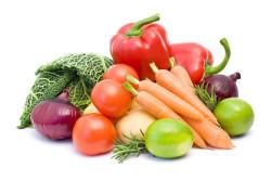 Свежие овощи во время диеты