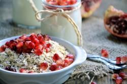 Овсянка и фрукты - составные меню диеты по часам