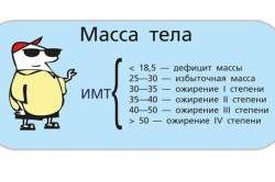 Расчет индекса нормальной массы тела