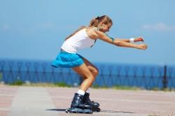 Катание на роликах как способ похудения в коленях