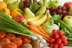Свежие фрукты и овощи при индийской диете